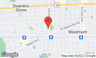 Map of 419 Wilson Street DOWNERS GROVE, IL 60515