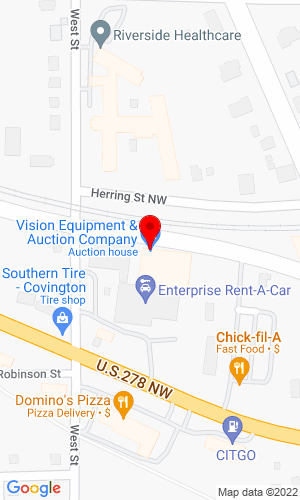 Google Map of Vision Equipment & Auction 4191 West Street NW, Covington, GA, 30014