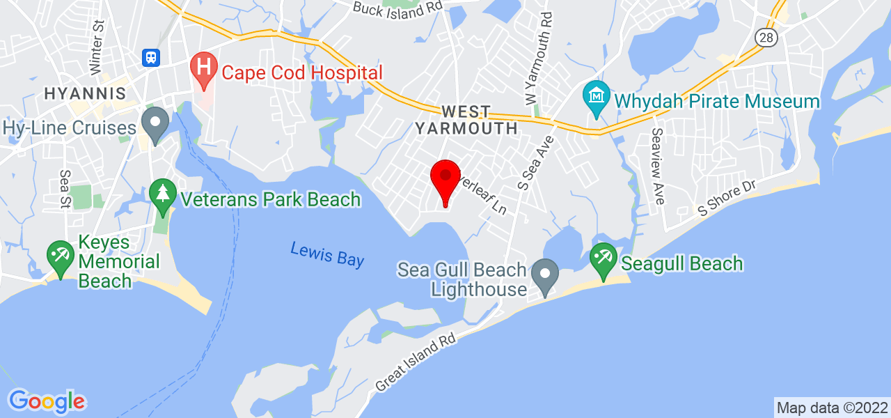 Google Map of 42 Lewis Bay Boulevard Yarmouth MA