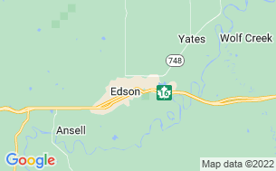 Map of Edson Lions Park Campground