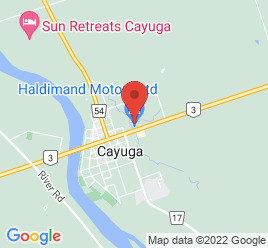 Google Map of 42+Talbot+Street+East%2CCayuga%2COntario+N0A+1E0