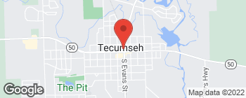 Map of 101 W Chicago Blvd in Tecumseh