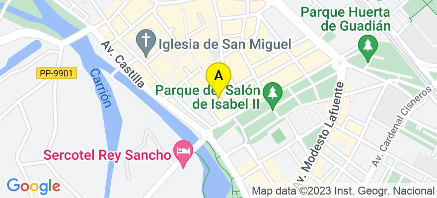 situacion en el mapa de . Direccion: CALLE MAYOR PRINCIPAL 144, 1ºB, 34001 Palencia. Palencia