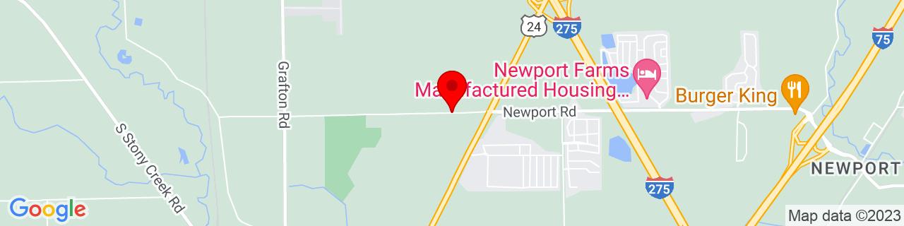 Google Map of 42.007347, -83.3586144