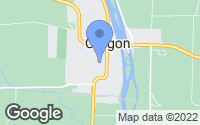 Map of Oregon, IL