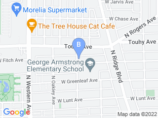 Map of A Bark & A Meow Dog Boarding options in Chicago | Boarding