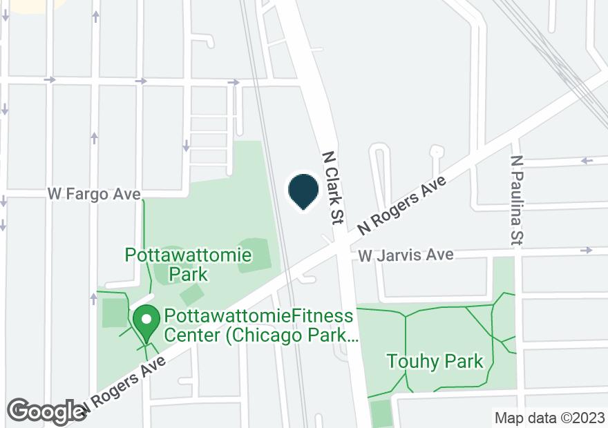 Google Map of7410 N CLARK ST