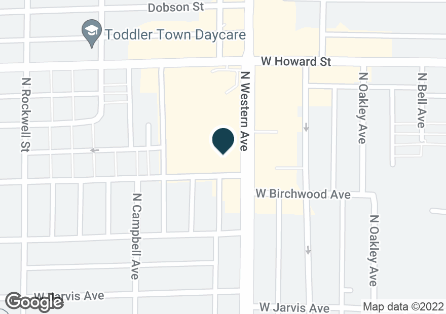 Google Map of7510 N WESTERN AVE