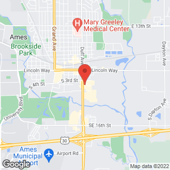 Map of Noodles & Company at 400 S Duff Avenue, Ames, IA 50010