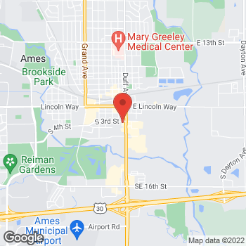Map of Panera Bread at 309 S Duff Avenue, Ames, IA 50010