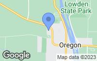 Map of Oregon, IL