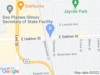 Map of Go Doggie Home Doggie Dog Boarding options in Des Plaines | Boarding