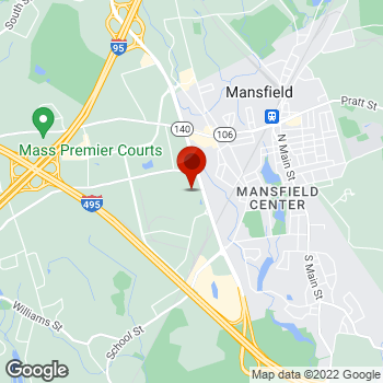 Map of Staples® Print & Marketing Services at 390 West St., Mansfield, MA 02048