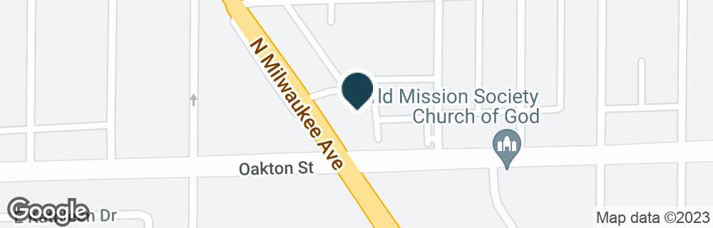 Google Map of8001 N MILWAUKEE AVE