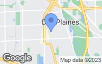 Map of Des Plaines, IL