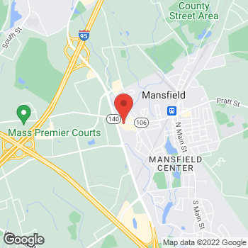 Map of Kenneth Lavin, DPM at 272 Chauncey Streetsuite 4, Mansfield, MA 02048