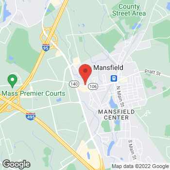 Map of Rite Aid at 243 Chauncy Street, Mansfield, MA 02048