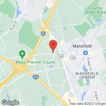 Map of Wojciech Bulczynski, MD at 89 Forbes Boulevard, Mansfield, MA 02048