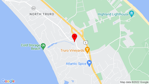 Google Map of 38 Shore Road, North Truro, MA 02652