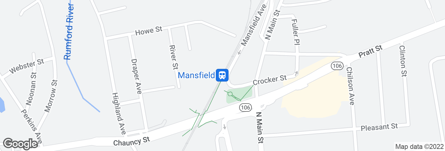 Map of Mansfield and surrounding area