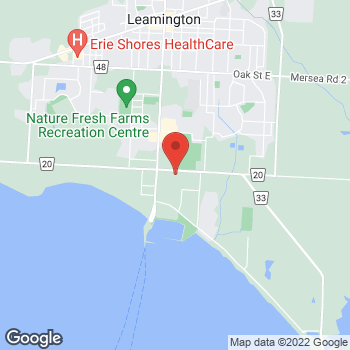 Map of Staples Print & Marketing Services at 16 Seacliff Drive East, Leamington, ON N8H 2L2