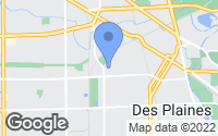 Map of Des Plaines, IL