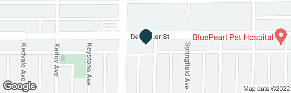 Google Map of3945 DEMPSTER ST
