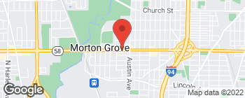 Map of 6036 Dempster St in Morton Grove