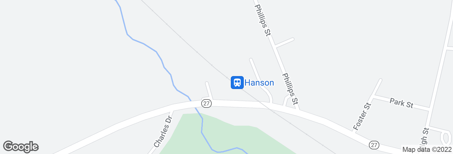 Map of Hanson and surrounding area