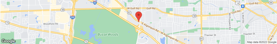 Map of 17 W Algonquin Rd in Arlington Heights