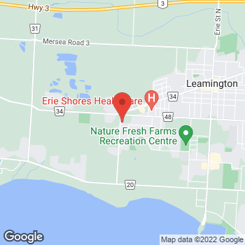 Map of Carquest Auto Parts at 24 Fraser Rd, Leamington, ON N8H 4E5