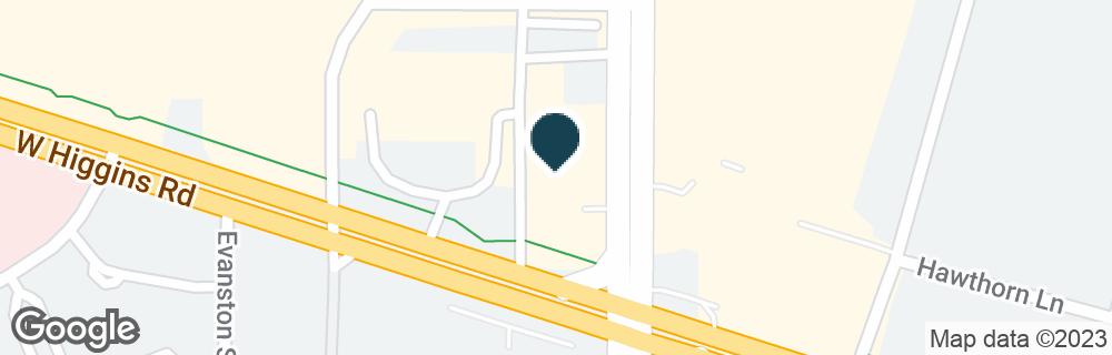 Google Map of1000 N ROSELLE RD