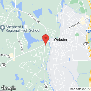 Map of Rite Aid at 5 Schofield Avenue, Dudley, MA 01571