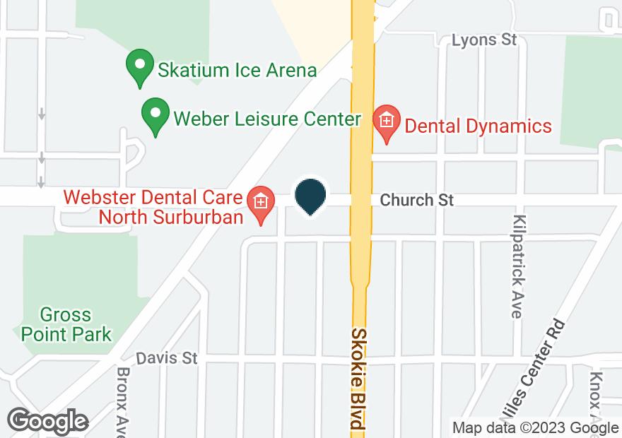 Google Map of9150 SKOKIE BLVD