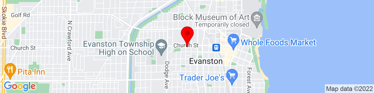 Google Map of 42.048233, -87.693162