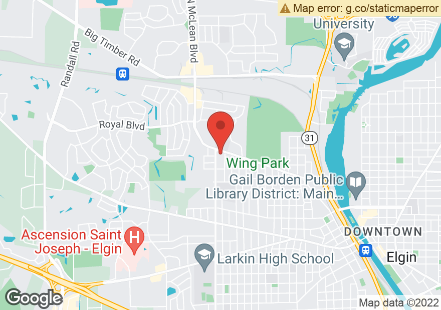Google Map of 589 N MCLEAN BLVD
