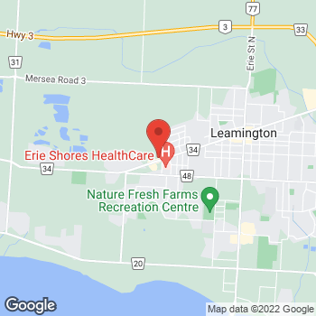 Map of Arby's at 199 Talbot St W, Leamington, ON N8H 1N8