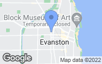 Map of Evanston, IL