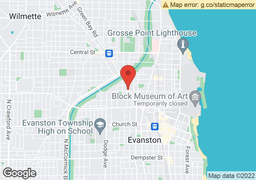 Google Map of 2100 GREEN BAY RD