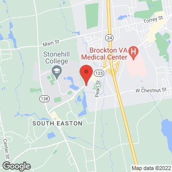 Map of Aubrey Lieberman, MD at 1342 Belmont Streetsuite 105, Brockton, MA 02301