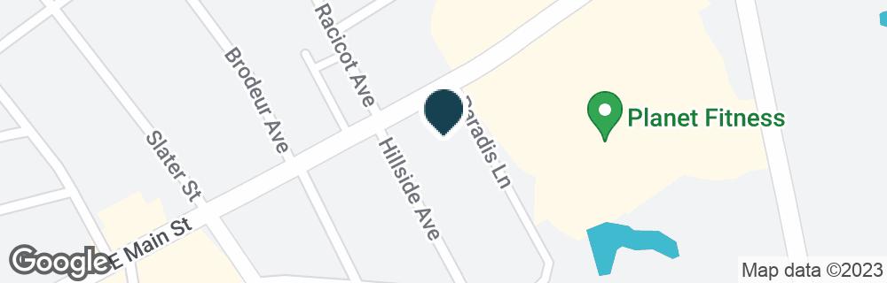 Google Map of100 E MAIN ST