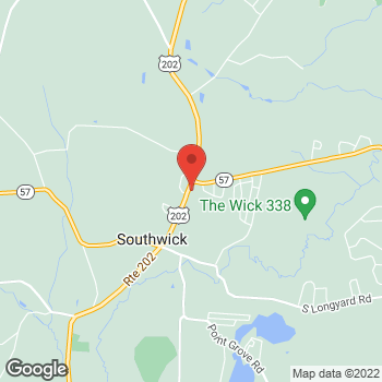 Map of Rite Aid at 592 College Highway, Southwick, MA 01077