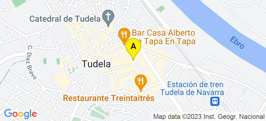 situacion en el mapa de . Direccion: Plaza Sancho el Fuerte nº 10-2º-3º, 31500 Tudela. Navarra