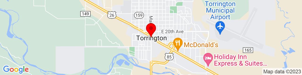 Google Map of 42.0624646, -104.1843942