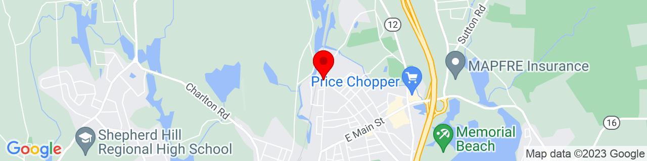 Google Map of 42.0632149, -71.8780191