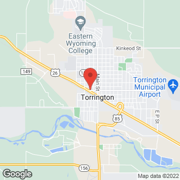 Map of Taco John's at 224 W 20th St, Torrington, WY 82240