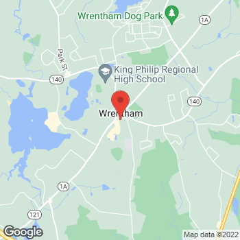 Map of SMG Wrentham Primary Care at 24 Common Street, Wrentham, MA 02093