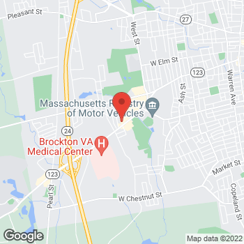 Map of Mighty Auto Parts at 733 Belmont Street, Brockton, MA 02301
