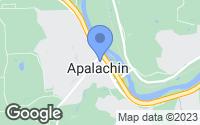 Map of Apalachin, NY