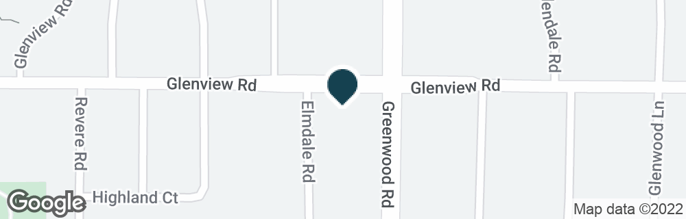Google Map of3301 GLENVIEW RD